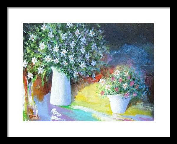 Framed Print featuring the print A Delicate Balance by Carl Lucia