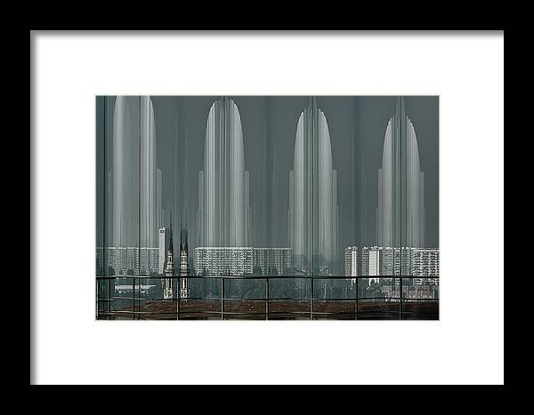 Architecture Framed Print featuring the photograph A Double Look. by Greetje Van Son