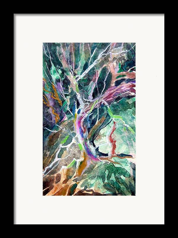 Tree Framed Print featuring the painting A Dying Tree by Mindy Newman