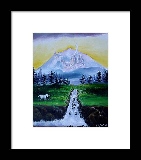 Landscape Framed Print featuring the painting A Fairytale by Glory Fraulein Wolfe