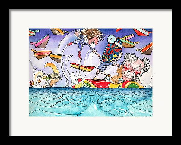 Children's Book Illustration Framed Print featuring the painting A Fatal Conceit Sample by Robert Myers