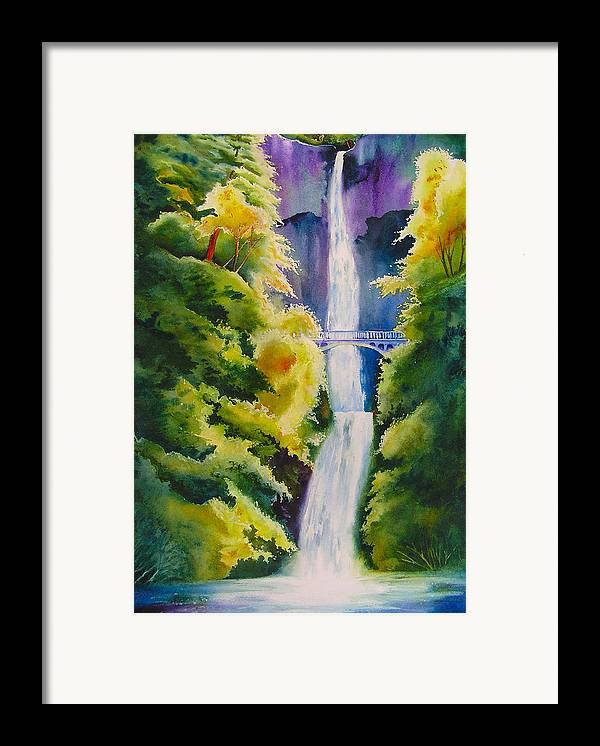 Waterfall Framed Print featuring the painting A Favorite Place by Karen Stark