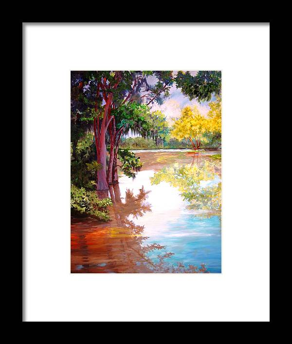 Water Framed Print featuring the painting A Fine Day by AnnE Dentler