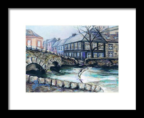 Westport Framed Print featuring the painting A Fine Day In Eire by M Schaefer