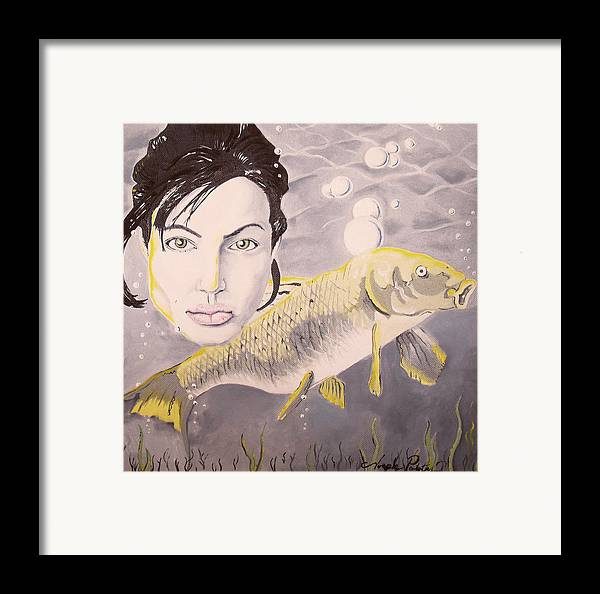 Angelina Framed Print featuring the painting A Fish Named Angelina by Joseph Palotas