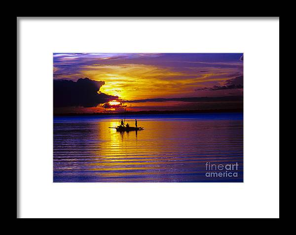 Sunset Framed Print featuring the photograph A Fisherman's Sunset by James BO Insogna