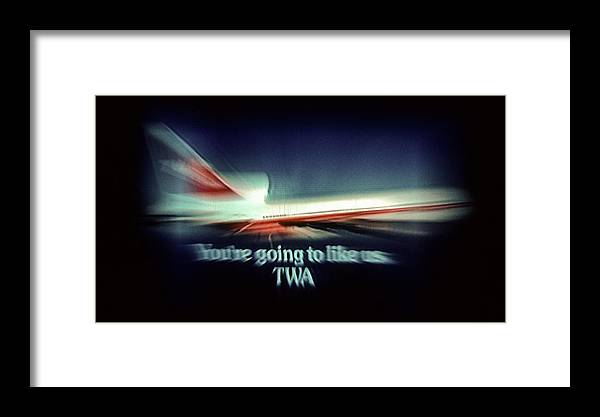 Airline Framed Print featuring the photograph A Flight From The Past by Kellice Swaggerty
