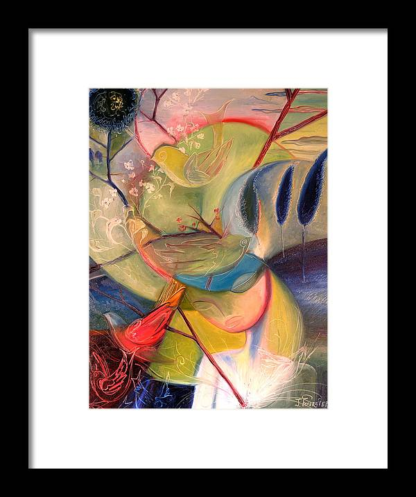 Free Framed Print featuring the painting A Free Mind by Jenna Fournier