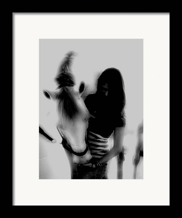 Horse Framed Print featuring the photograph A Girl And Her Horse by Donna Thomas