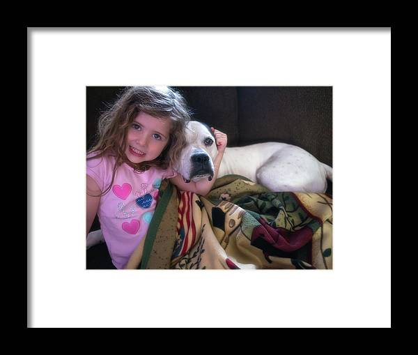 Animals Framed Print featuring the photograph A Girlie-girl And Her Dog by Richard Peatross