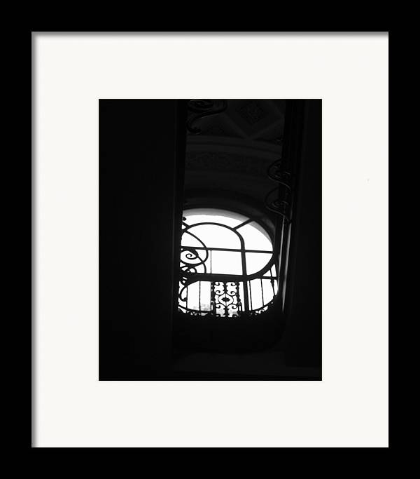 Window Silhouette From A Stairwell Framed Print featuring the photograph A Glimpse Of Sky by Lindsey Orlando