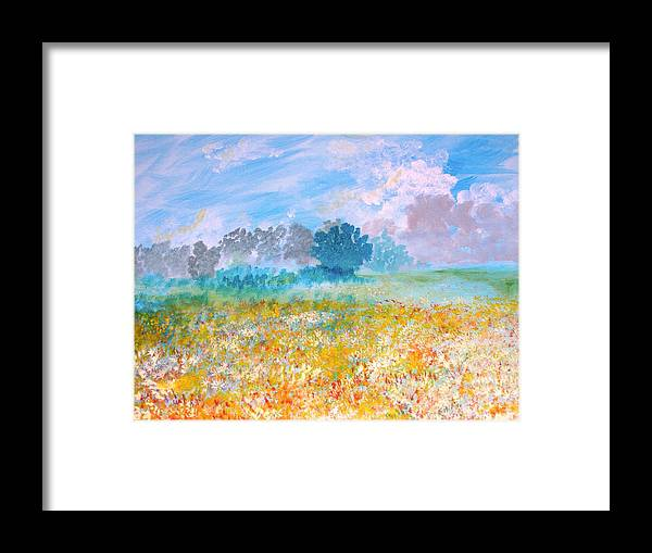 New Artist Framed Print featuring the painting A Golden Afternoon by J Bauer