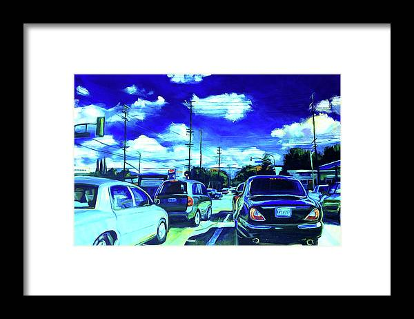 Neighborhood Framed Print featuring the painting A Good Day by Bonnie Lambert