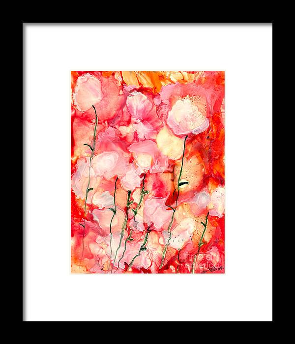 Abstract Framed Print featuring the painting A Good Feeling by Heather Hennick