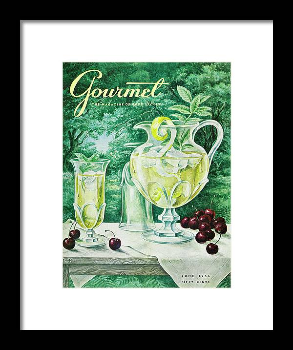 Food Framed Print featuring the photograph A Gourmet Cover Of Glassware by Hilary Knight