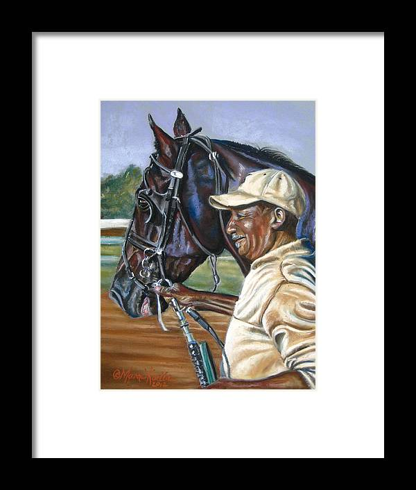 Horse Framed Print featuring the painting A Grooms Pride by Marni Koelln