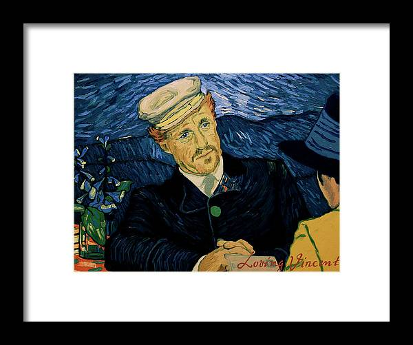 Framed Print featuring the painting A guy I met in Paris thought you might have the address for Theo's widow. by Kat Knutsen