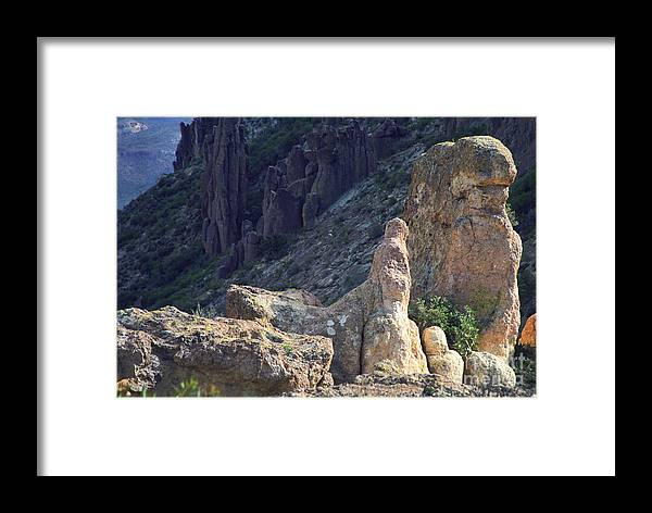 Rock Formations Framed Print featuring the photograph A Hard Ride by Kathy McClure