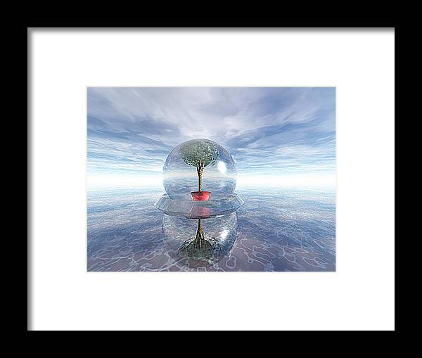 Surreal Framed Print featuring the digital art A Healing Environment by Oscar Basurto Carbonell