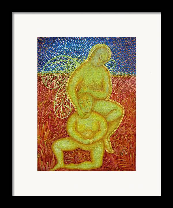 Symbolic Framed Print featuring the painting A Healing by Hiske Tas Bain