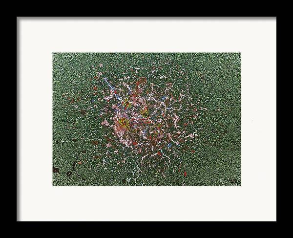 Green Framed Print featuring the painting A Higher Science by Steven Dean