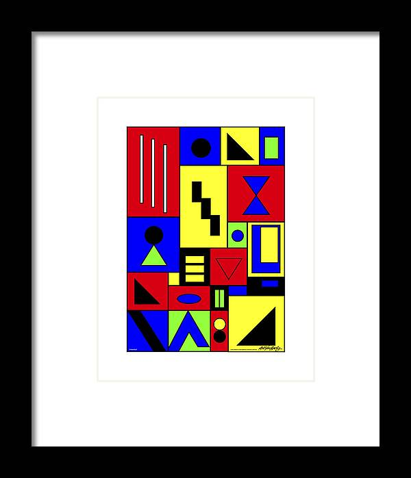 Framed Print featuring the painting A Hurt Soul Passepartout by Asbjorn Lonvig