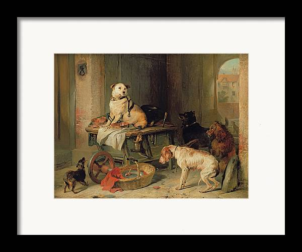 Jack Framed Print featuring the painting A Jack In Office by Sir Edwin Landseer
