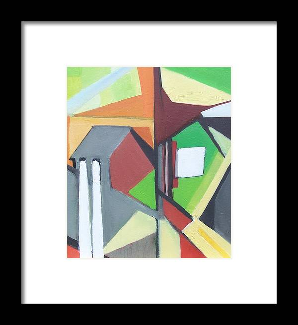 Contemporary Painting Framed Print featuring the painting A Jersey Abstraction by Ron Erickson