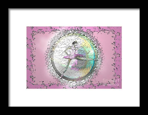 Ballet Framed Print featuring the digital art A La Second Pink Variation by Cynthia Sorensen