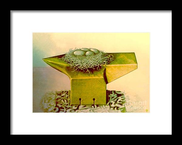 Surrealism Framed Print featuring the digital art A Life On Force by Miroslav Popovic