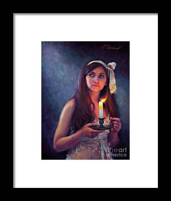Pastel Framed Print featuring the painting A Light Unto My Path by Jean Hildebrant
