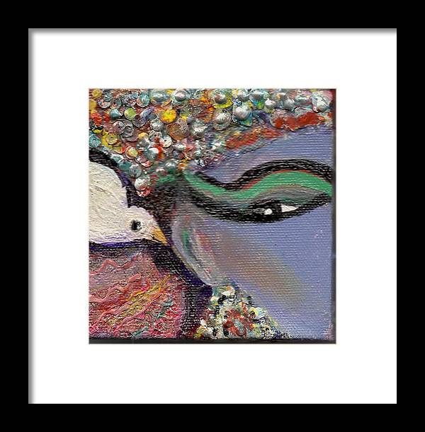 Bird Framed Print featuring the mixed media A Little Bird Told Me by Anne-Elizabeth Whiteway