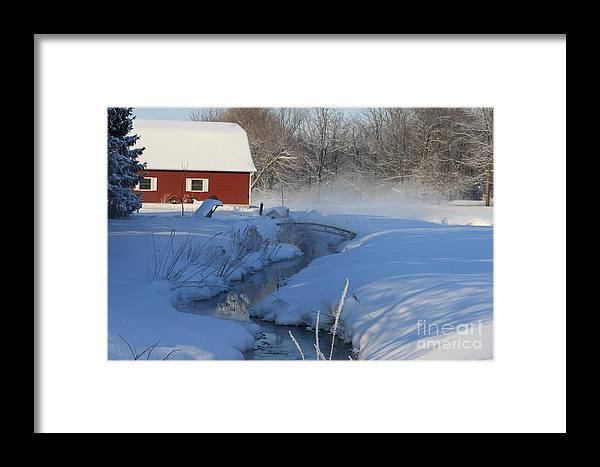 Winter Framed Print featuring the digital art A Little Slice by Cathy Beharriell