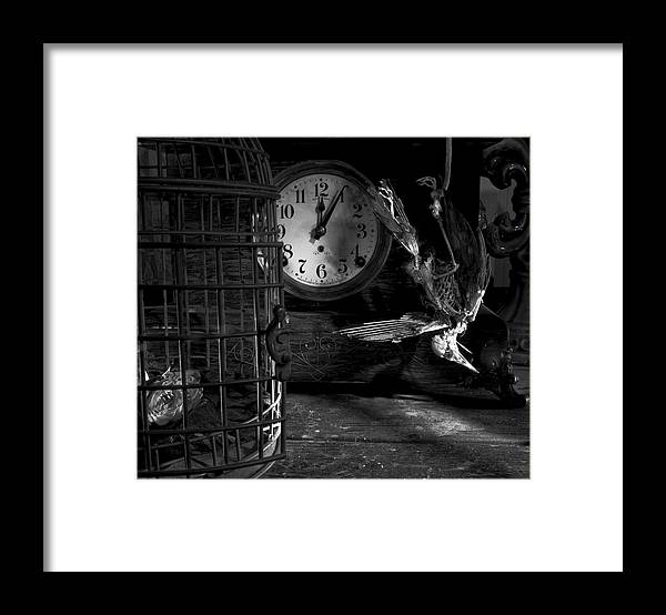Freedom Comes A Lil Too Late For This One. Framed Print featuring the photograph A Little Too Late by Robert Och