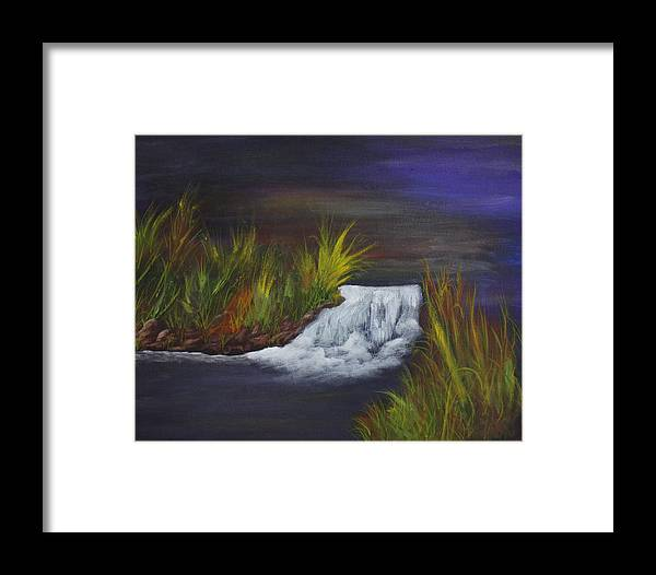 Waterfall Framed Print featuring the painting A Little Wild by Dawn Blair