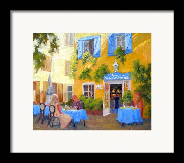France Framed Print featuring the painting A Loaf Of Bread A Jug Of Wine by Bunny Oliver