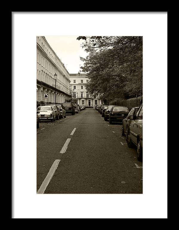 Travel Framed Print featuring the photograph A London Street II by Ayesha Lakes