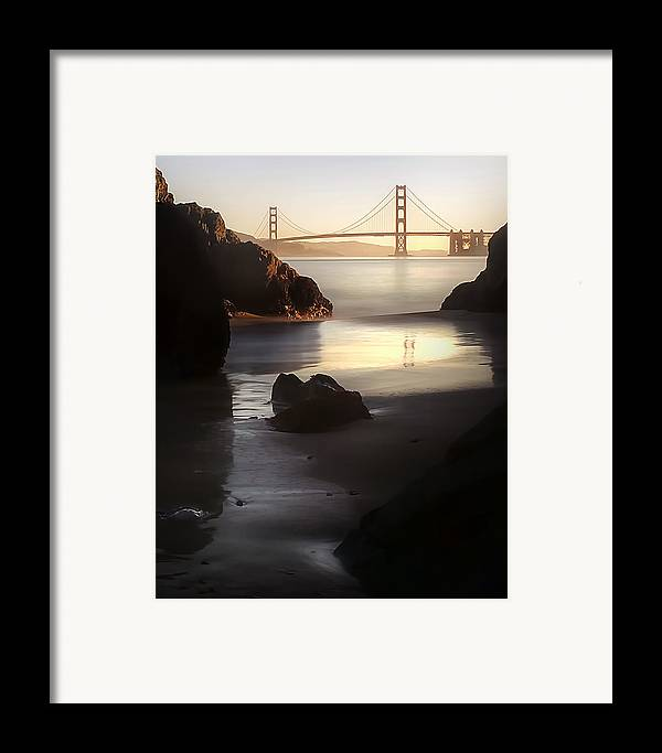 Landscape Framed Print featuring the photograph A Long Exposure Of A Jellyfish by Sean Foster