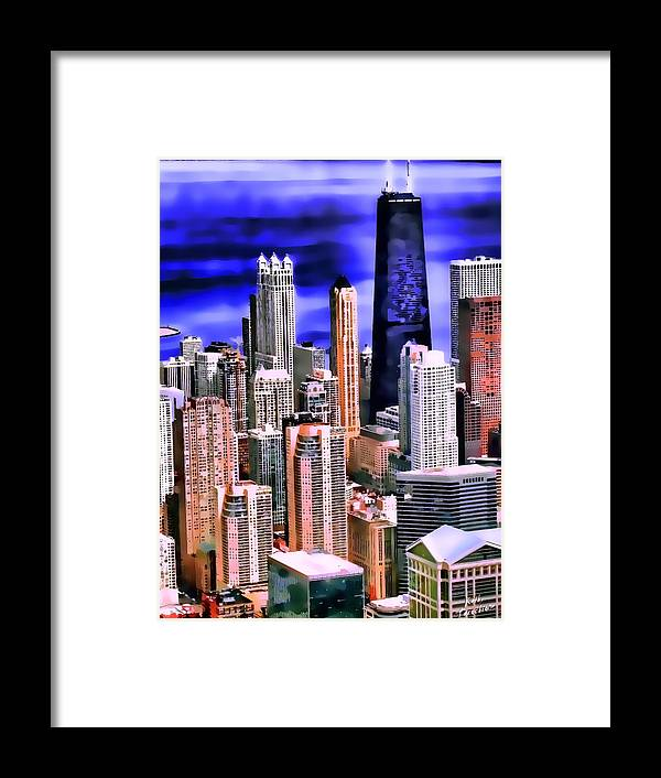 Chicago Framed Print featuring the photograph A Look At Chicago by Kathy Tarochione