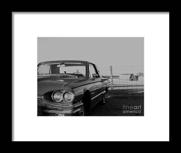 Old Car Framed Print featuring the photograph A Look Back by William Caine