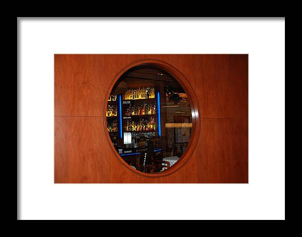 Architecture Framed Print featuring the photograph A Look Thru The Fishbowl by Rob Hans