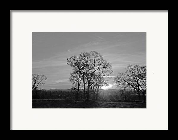 Landscape Framed Print featuring the photograph A. M. by M Ryan