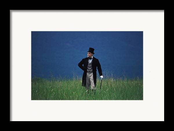 History Framed Print featuring the photograph A Man Outstanding In His Field by Carl Purcell
