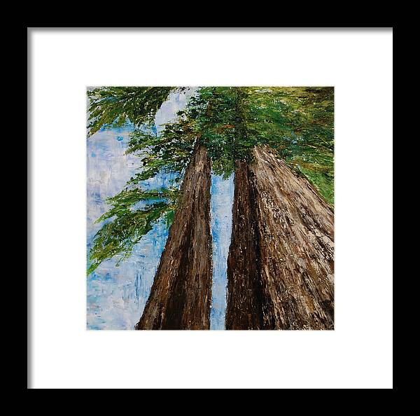 Abstract Framed Print featuring the painting A Matter Of Perspective by Deborah Gall