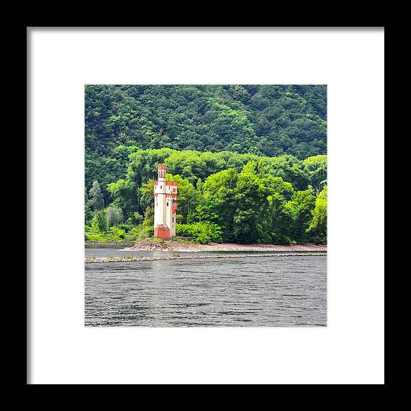 Medieval Building Framed Print featuring the photograph A Medieval Castle on the Rhine by Kirsten Giving
