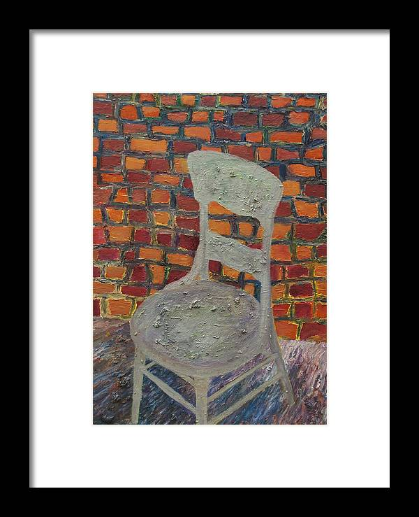 Oil Painting Framed Print featuring the painting A Meeting Chair by Jacob Stempky