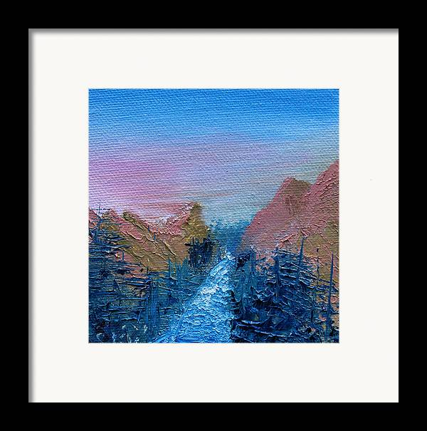 Canyon Framed Print featuring the painting A Mighty River Canyon by Jera Sky