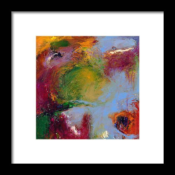 Abstract Framed Print featuring the painting A Moment Captured by Johnathan Harris