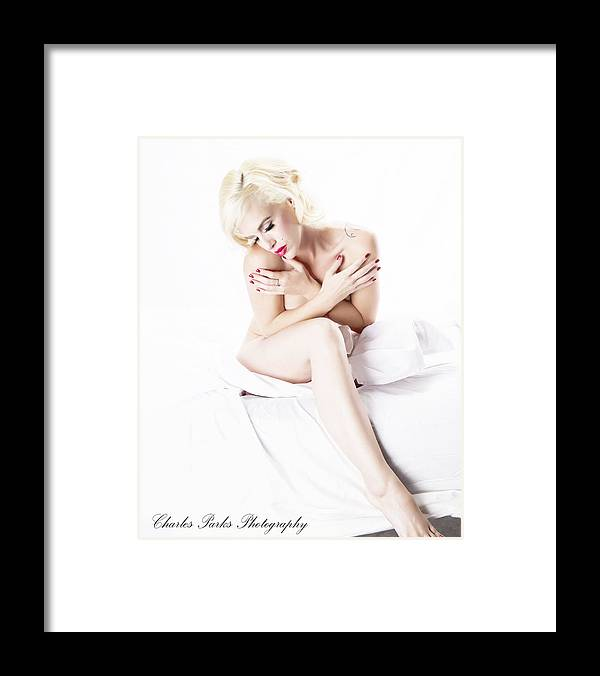 Marylin Framed Print featuring the photograph A Moment by Charles Parks