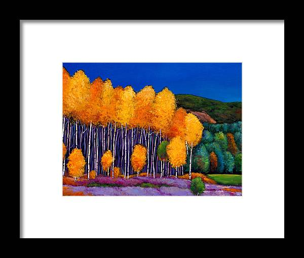 Aspen Framed Print featuring the painting A Moment In Time by Johnathan Harris